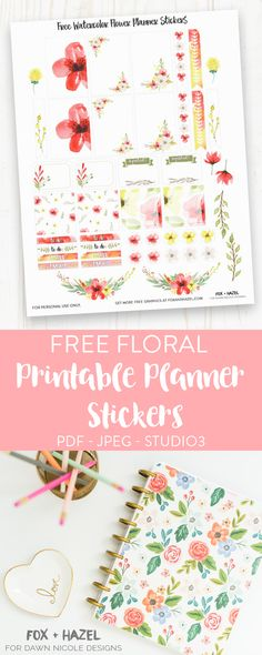 Free Planner Stickers Printable - Fox + Hazel for Dawn Nicole Designs-2
