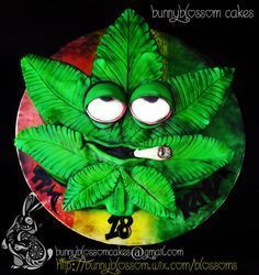 Rasta Theme cake - Cake by BunnyBlossom Weed Birthday Cake, Funny Birthday Cakes, Funny Cake, Crazy Birthday, Rasta Cake, Bob Marley Cakes, Cannabis, Rasta Party, Cookies Decorados