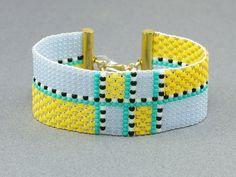 Bead loom seed bead bracelet beadwork bracelet by IevaMinde