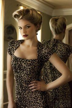 sexy leopard print dress in vintage cut