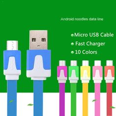 BrankBass High quality 10 Colors Flat Micro Usb Cable Charge Cable & Sync Data For Samsung For HTC for Nokia Android Phones #clothing,#shoes,#jewelry,#women,#men,#hats,#watches,#belts,#fashion,#style
