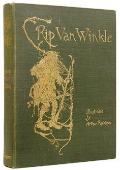 very old copy of Rip Van Winkle