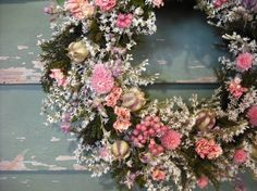 Pretty in pink all natural dried flower wreath by NHWoodscreations, $24.50