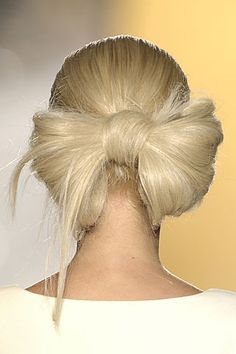 Try the gaga bow, but it the back vs. on top of head (which is a little overdone)