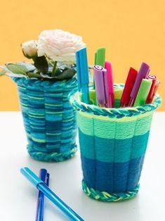 Cup Weaving | Yarn | Free Knitting Patterns | Crochet Patterns | Yarnspirations                                                                                                                                                                                 More