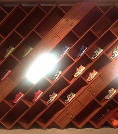 Nike shoe display at the Box park London Shoreditch 2013