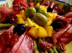 Salade provençale légèrement relevée
