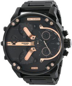 Amazon.com: Diesel Men's DZ7312 The Daddies Series Analog Display Analog Quartz Black Watch: Diesel: Watches