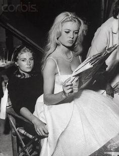 the iconic Brigitte Bardot & her beautiful sister