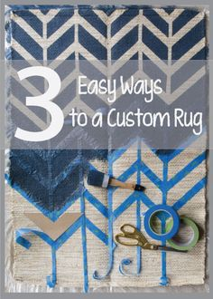 A must repin for DIYers! Take a dull rug and make it amazingly your own. Learn how to paint a rug. Click to see how absolutlely...