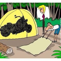 Camping-too funny, can see my husband doing this...lol