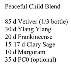 Peaceful Child blend with doTERRA oils. Shop, enroll and learn more at mydoterra.com/metcalf