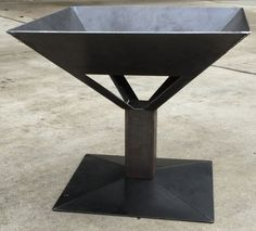 NEW 26 Square Fire Pit Solid Steel Wood Stove Made от GabbysCloset