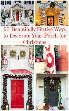 60 Beautifully Festive Ways to Decorate Your Porch for Christmas – DIY &...