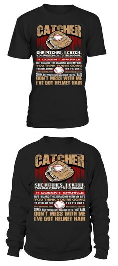 The shirt is made of cotton and polyester, Printing with modern technology to make products more durable in time. Basebal catcher softball men women shirt baseball t shirt green Helmet Hair, Softball Shirts, Men And Women, Catcher, Christmas Sweaters, Baseball, Unisex, Sweatshirts, Green