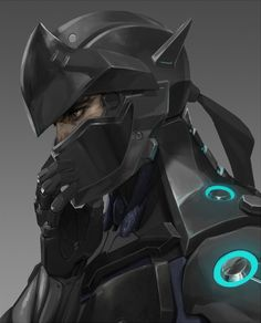 Badass rendition of Genji from Overwatch