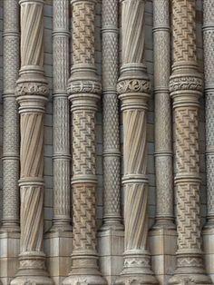Wood Railing, Stair Handrail, Victorian Stairs, Columns Decor, Pillar Design, Bedroom False Ceiling Design, Marble Columns, Neoclassical Architecture, Column Design
