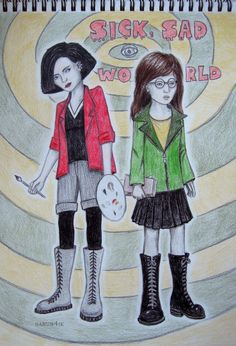 daria fan art | daria and jane by sarun4ik fan art traditional art drawings