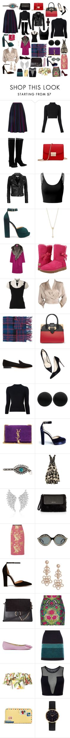 """""""Some of my favorite things #60"""" by andyarana ❤ liked on Polyvore featuring Yves Saint Laurent, Balmain, Chloé, IRO, Doublju, Charlotte Olympia, EF Collection, Tanya Taylor, UGG and Dorothy Perkins"""