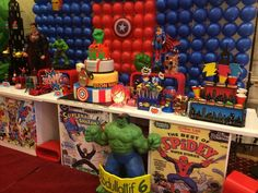 Super Hero Squad/Marvel Characters Birthday Party Ideas | Photo 34 of 43 | Catch…
