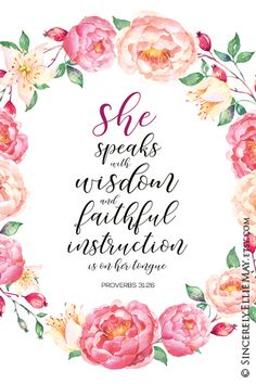 Proverbs 31 Scripture Verse for the faith-filled woman in your life Proverbs 31 Scripture, Bible Verses Quotes, Life Proverbs, Proverbs 31 Woman, Wisdom Scripture, Psalms, Birthday Scripture, Birthday Verses, Birthday Wishes