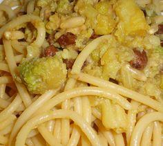Bucatini con broccolo alla siciliana