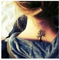 Tree tattoo. family: like branches on a tree we grow in different directions, but our roots keep us together.