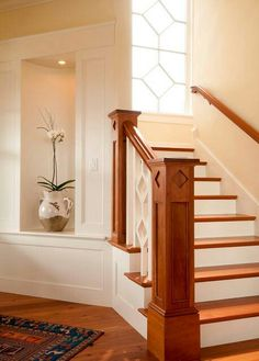 Love Craftman Style Home Stairs Design, Stair Railing Design, Stair Treads,  Craftsman Staircase