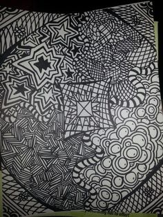 Zentangle I drew for my daughter to color