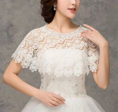Women's Wraps Cape Lace Shawl for Wedding Dresses