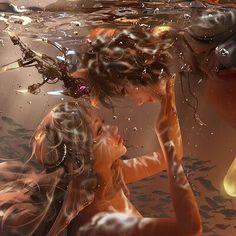 Beautiful Fantasy Art, Dark Fantasy Art, Fantasy Artwork, Fantasy Character Design, Character Art, Goddess Art, Digital Art Girl, Cartoon Art Styles, Pretty Art