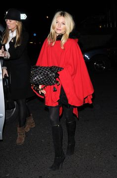 sienna in an awesome red cape.