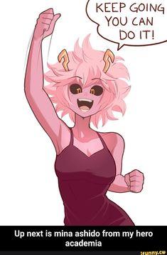 Mina Ashido / Pinky (My Hero Academia) Buko No Hero Academia, My Hero Academia Memes, Hero Academia Characters, My Hero Academia Manga, Anime Characters, Hero Manga, Character Art, Character Design, Dibujos Anime Chibi