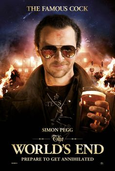 The World's End , starring Simon Pegg, Nick Frost, Martin Freeman, Rosamund Pike. Five friends who reunite in an attempt to top their epic pub crawl from 20 years earlier unwittingly become humankind's only hope for survival. Simon Pegg, The World's End Movie, Movie Tv, Trek Movie, Movie List, Science Fiction, Martin Freeman, Nick Frost, Promo Flyer