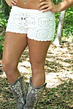 Sophie Crochet Shorts $49.99 #SouthernFriedChics