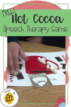 FREE open-ended game that's designed to be used with real marshmallows!  Your students will be motivated to practice their speech therapy goals, plus it's winter themed!