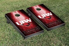 Rustic Metal Style University of Incarnate Word Cardinals Bag Toss Game