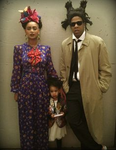 Beyonce, Jay Z & Blue Ivy show out at Frida Khalo, Jean-Michel Basquiat and their Picasso Baby.