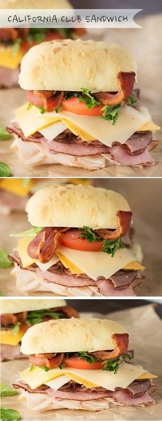 INGREDIENTS : 1/4 pound roasted chicken or turkey deli meat 1/4 pound honey ham deli meat 1/4 pound roast beef deli meat 4 slices o...