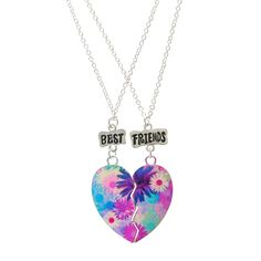 Shop Claire's for the latest trends in jewelry & accessories for girls, teens, & tweens. Find must-have hair accessories, stylish beauty products & more. Bff Bracelets, Best Friend Bracelets, Bff Necklaces, Best Friend Jewelry, Friendship Necklaces, Best Friend Gifts, Gifts For Friends, Bestie Gifts, Kids Jewelry