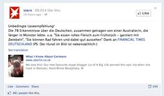 """German publications stern shares """"What I Know About Germans"""" on its Facebook wall."""