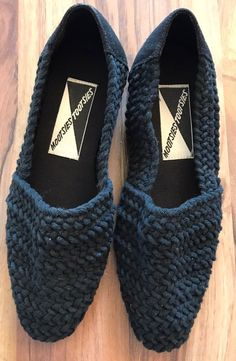 Mootsies Tootsies Women's Black Knit Flats Loafers Sz 7 Shoes 6.5 Narrow See Des  | eBay