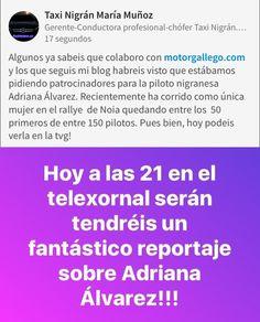 #adrianaalvarez #motor #rallye #piloto #copiloto #Nigrán #ConcelloNigran #Motorgallego #taxi #taxinima #tedemuestroquemeimportas 