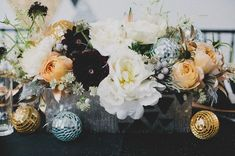 Disco Ball Decor - Spectacular New Year's Eve Wedding Ideas - Photos