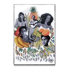 Poster poster Tropicália de @omardrawings | Colab55 Paint Photography, Fine Art Photography, Arte Latina, Creative Poster Design, Tropical, Arte Pop, Cool Posters, Ancient Art, Collage Art