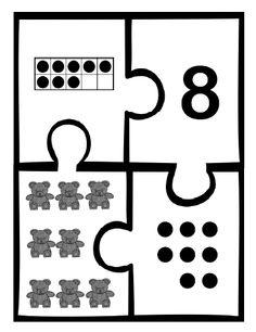 Number Puzzles https://www.teacherspayteachers.com/Product/Kindergrten-Number-Puzzles-2028654