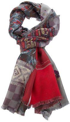 7c46f99951099 Pierre Louis Mascia Pierre-Louis Mascia print scarf - ShopStyle Scarves
