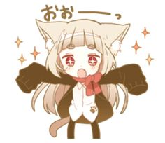 NEKOMIMI girl sticker - LINE Creators' Stickers