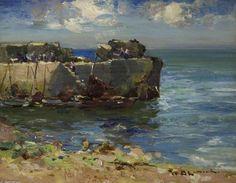 Harbour mur de William Bradley Lamond (1857-1924, United Kingdom)