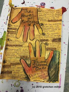 The Art of Relationships in Trauma Informed Work Therapy Tools, Play Therapy, Therapy Ideas, Art Therapy Directives, Hand Art, Coping Skills, School Counseling, Trauma, Ptsd
